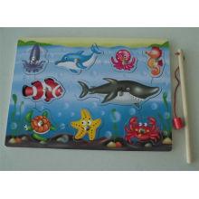 Pädagogische hölzerne Fischen magnetische Puzzlespiel-hölzerne Spielwaren
