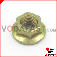 Hex Flange Nuts Yellow Zinc Plated