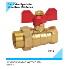 Butterfly Handle Brass Ball Valve with Union Dn25 Price