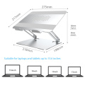 Espace de bureau utilisé support d'ordinateur portable portable en aluminium