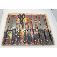 11pcs ABS handle knife board set