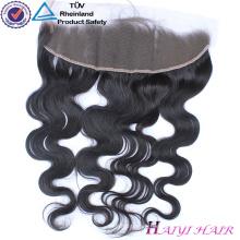 Reines brasilianisches Haar-gerade Art 13 * 6 frontaler Spitzeverschluß mit Bündeln