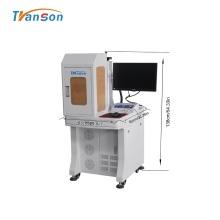 Закрытый волоконный лазерный маркер с компьютером и столом