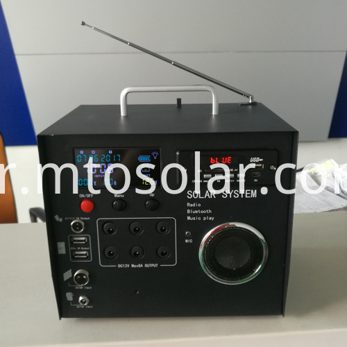 40w LCD solar generator with radio bluetooth