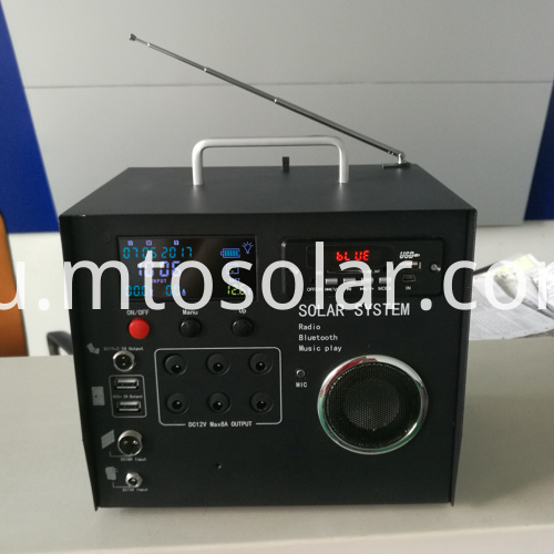40w home solar systems with radio bluetooth