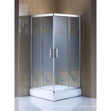 Porte coulissante en verre de douche d'écran de douche de bon marché d'articles sanitaires