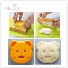 Molde do sanduíche do plástico de Bear-Shaped das ferramentas do bolo de Bakeware
