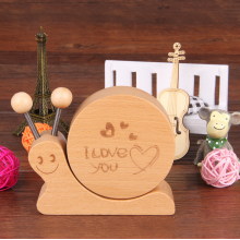 Wooden Snail Music Box Kids Gift Home Décor