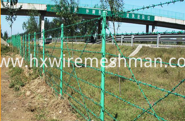 application of pvc barbed wire