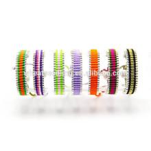 Inspirado atractiva caramelo orden mezclada colorida cuerda ajustable pulsera trenzada