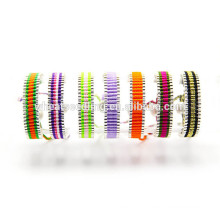 inspired attractive candy mixed order colorful adjustable rope braided bracelet