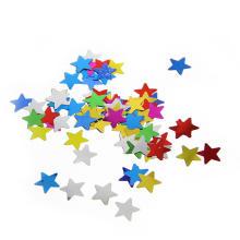 Confeti metálico de la forma de estrella multicolora caliente de la venta para la boda y la celebración del cumpleaños