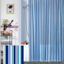 Atacado 100% poliéster novo estilo banheiro impermeável cortina de chuveiro