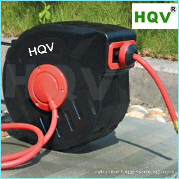 A18 Retractable Air Oil Hose Reel with 3/8 Inch by 50 Feet Hose, Swivel Bracket