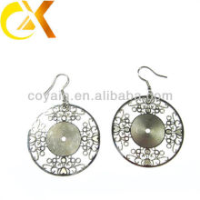 long fashion earrings Stainless Steel jewelry earrings