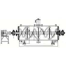 Secadora de la rastra de vacío de la serie ZPG 2017, secador de la bandeja de vacío de los SS, secador continuo de la correa del polvo