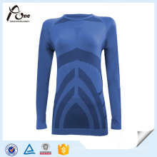 Body Shape Mulheres Camisas Long Sleeve Top Thermal