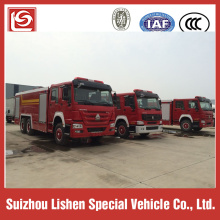 6X4 HOWO tangki air busa truk pemadam kebakaran 16000L