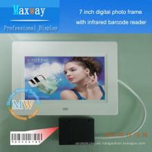 Necesidades diarias de 7 pulgadas, escáner digital del marco de la foto de la promoción de los cosméticos