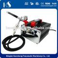 HS-216K Professional Airbrush Air Compressor 2 Holders Hose Regulator Filter Cake Tattoo