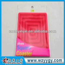 Almofada de antivibração de silicone em relevo, almofada de silicone oem para a promoção da venda quente