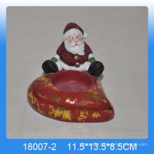Wholesale ceramic candle holder in santa claus shape