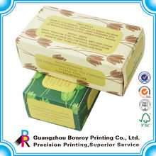 China distributor simple and cheap fancy color printing for soap foldable storage box