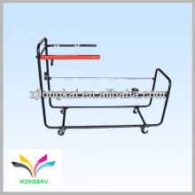 Outdoor sturdy white wire metal stand for air conditioner