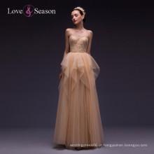 OB96051 laço appliqued sweetheart decote comprimento do chão frisado lantejoulas long sweetheart vestidos de baile