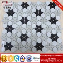 Chinesischer Lieferant 2017 neue Parkett Design Kristallglas Mosaik Wandfliese