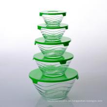Stackable Wave Design Glasablage Schüssel Set