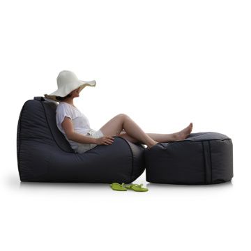 Outdoor back support bean bag waterproof cozy chair