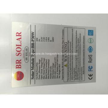 Tragbarer Solarpanel 30w Preis