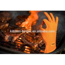 Großhandel benutzerdefinierte Antihaft-wasserdichte Silikon Grill Barbecue Handschuhe / Silikon Grill Ofen BBQ Handschuh / Ofen Mitt