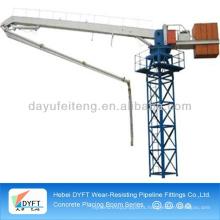 schwing concrete pump placing boom
