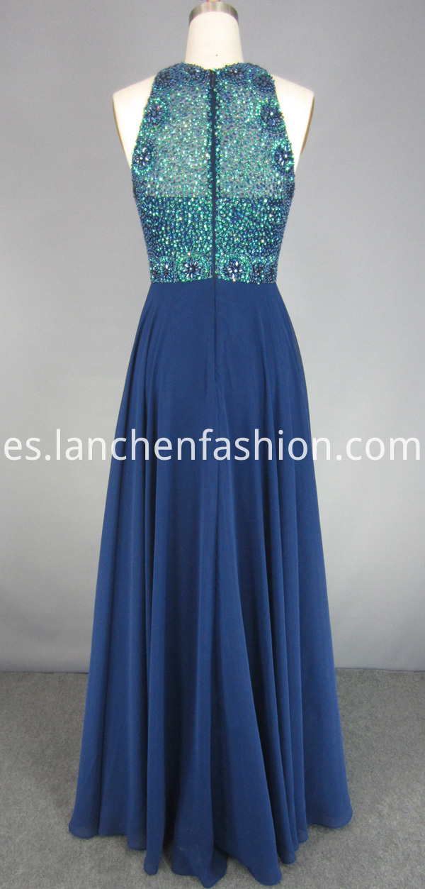 High Neck Prom Dress