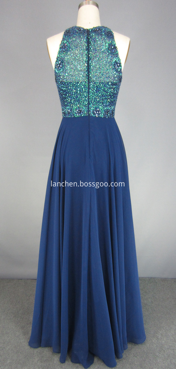 High Neck Prom Dress