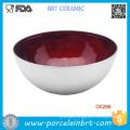 Deep Botttom Red Glazed Inside Ceramic Salad bowl