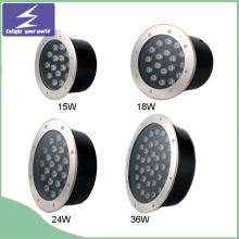12V / 220V 15/18/24 / 36W inoxidable de alta potencia al aire libre LED Buried Light