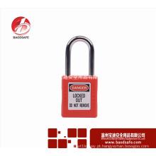 Wenzhou BAODSAFE Aço Xenoy cadeado cadeado de segurança BDS-S8601F cor vermelha