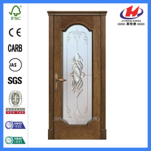 *JHK-FD01 Cafe Doors Interiors Glass Antique Glass Doors Single Leaf Glass Door