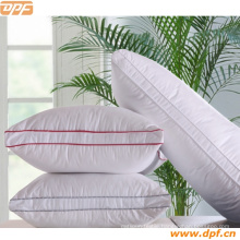 Red Color Edge Piping Luxury Hotel Pillow