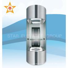 2015 Ascensor de cristal panorámico eléctrico de primera clase barato caliente en China