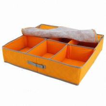 Cloth Storage Shoe Box, Double Zipper Take More Convenient, Delicate Handle, Carry More Convenient