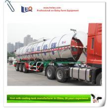 Camión cisterna enfriador de leche