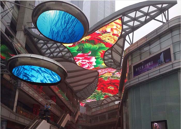full color energy saving irregular shape led display
