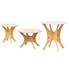 Tabela de exposição de madeira