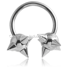 Surgical Steel Circular Barbell with Mace-Balls