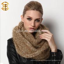 Китай Оптовая Новый продукт Обычная окрашенные леди Шарф Knit Infinity Шарф женщин