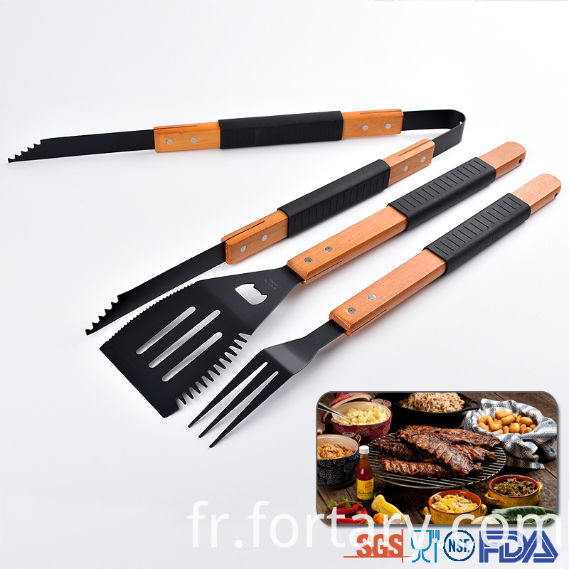 Non- stick wooden handle BBQ tools